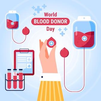Плоский всемирный день донора крови