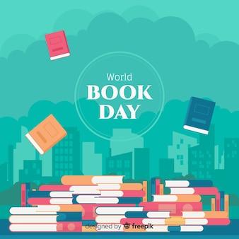 Плоский мир книжный день фон