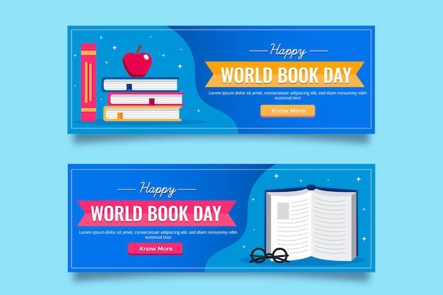 Banner piatto giornata mondiale del libro