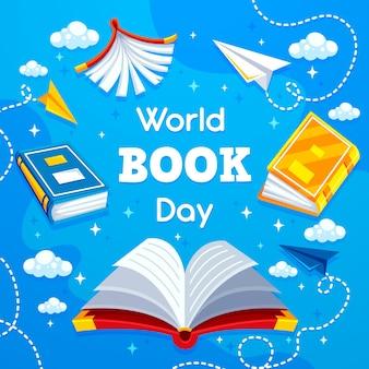 Плоский мир книжного дня концепция