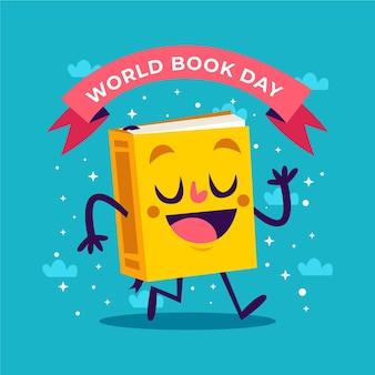 Evento della giornata mondiale del libro piatto