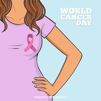 평평한 세계 암의 날 배경