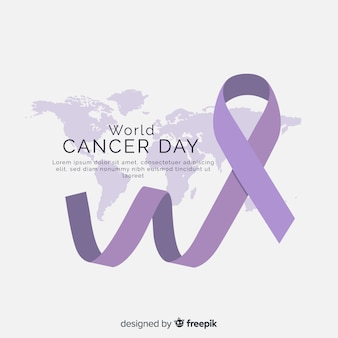 平らな世界がんの日の背景