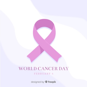 Flat world cancer day background