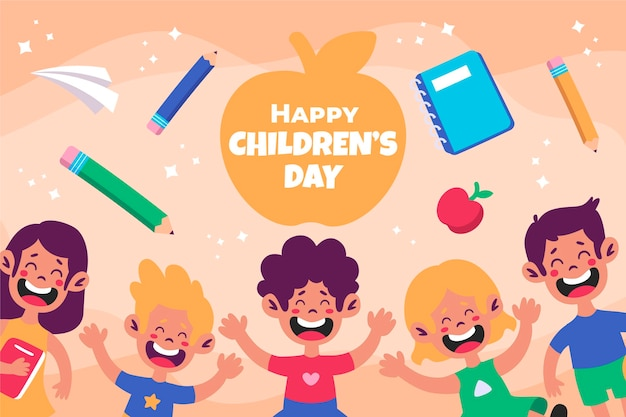 Sfondo del giorno dei bambini del mondo piatto
