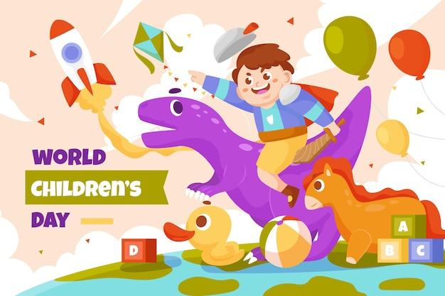 평평한 세계 어린이 날 배경