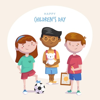 Flat world children's day  event