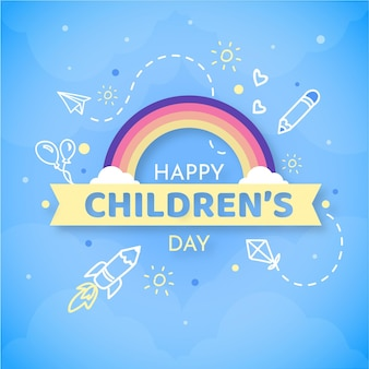 Flat world children's day message