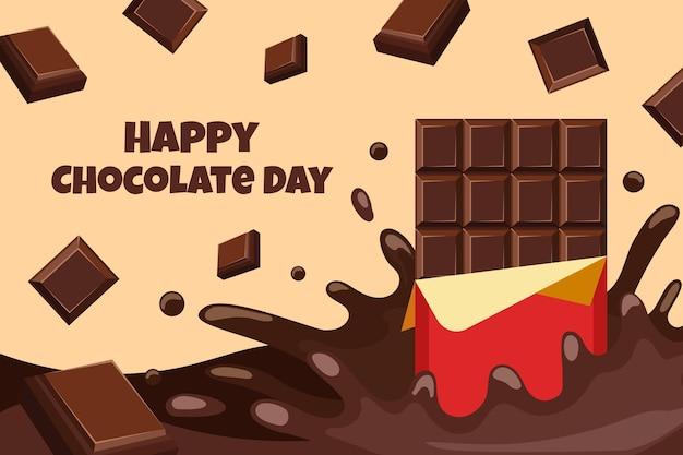 Illustrazione di giornata mondiale del cioccolato piatto