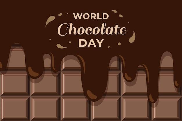 플랫 세계 초콜릿 하루 그림