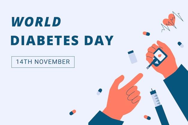 Flat world diabetes day background