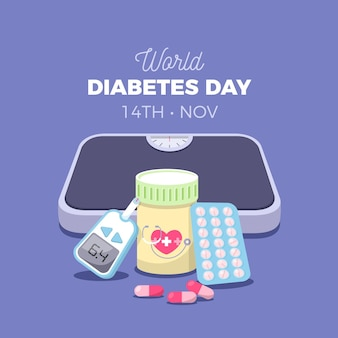 Flat world diabetes day