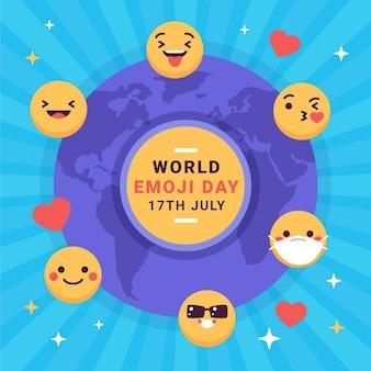 평면 세계 이모티콘의 날 그림