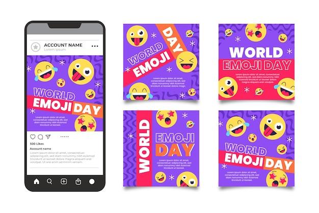 Flat world emoji day instagram 게시물 모음