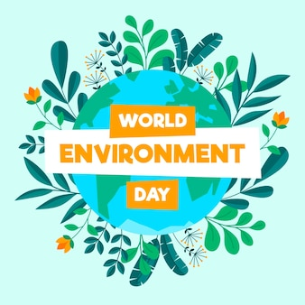 Flat world environment day illustration Free Vector