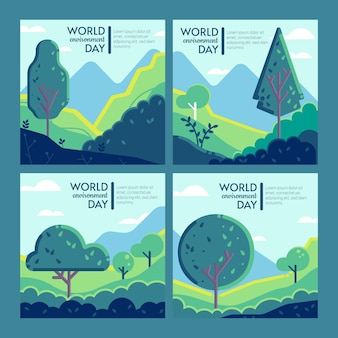Коллекция сообщений instagram день окружающей среды плоский мир