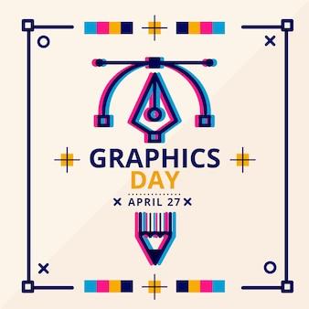Плоский мир графики день иллюстрация