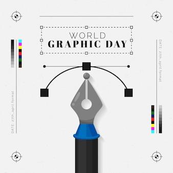 평면 세계 그래픽의 날 그림