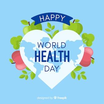 Flat world health day background
