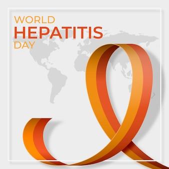 フラット世界肝炎デーのイラスト