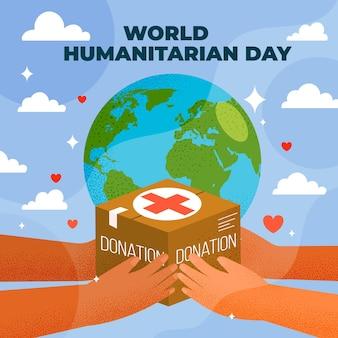Illustrazione della giornata umanitaria mondiale piatta