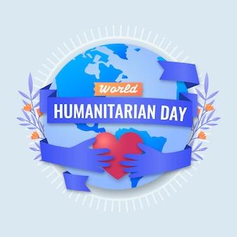 Giornata mondiale umanitaria piatta