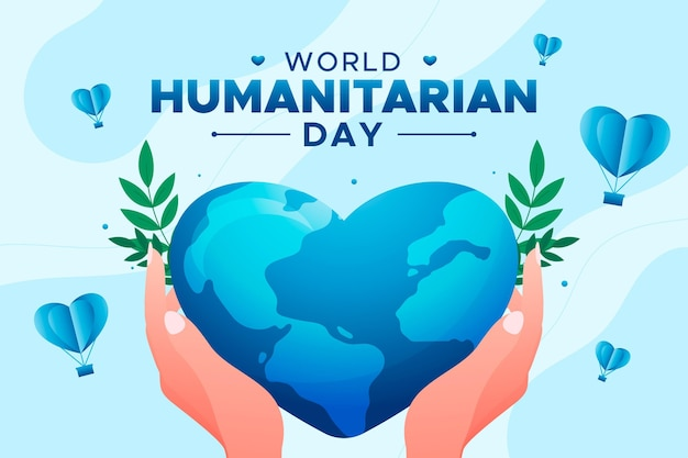 Flat world humanitarian day