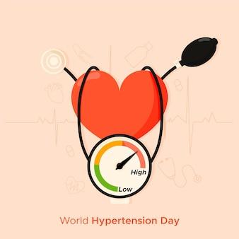 Illustrazione di giornata mondiale ipertensione piatta