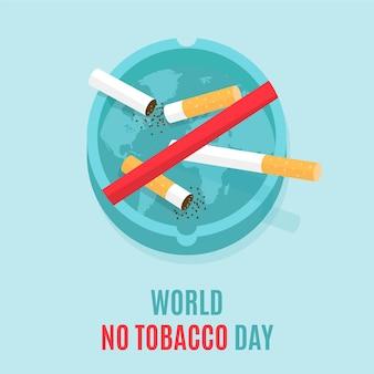 Illustrazione della giornata mondiale senza tabacco