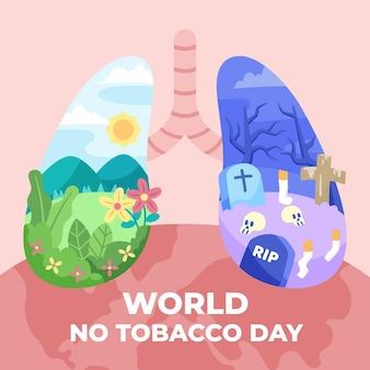 Плоский мир без табака иллюстрация