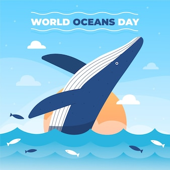평면 세계 바다의 날 그림