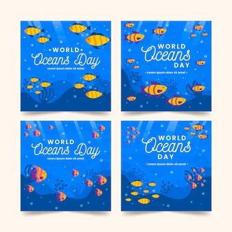 Raccolta di post instagram per la giornata mondiale degli oceani