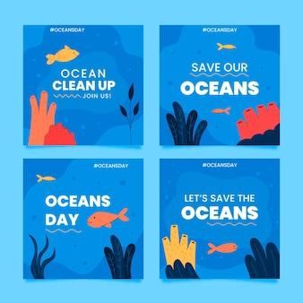 평평한 세계 해양의 날 instagram 게시물 모음