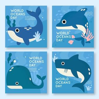 Raccolta di post su instagram per la giornata mondiale degli oceani