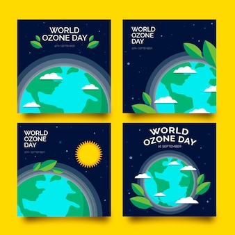 Flat world ozone day instagram posts collection