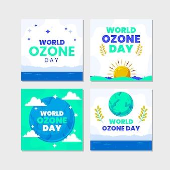 Коллекция постов в instagram с плоским всемирным днем озона