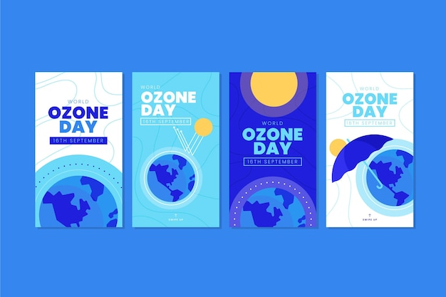 Flat world ozone day instagram stories collection