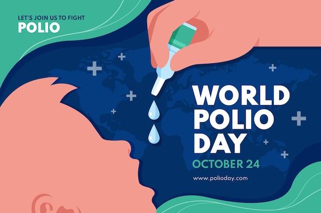 フラットワールドポリオの日の背景