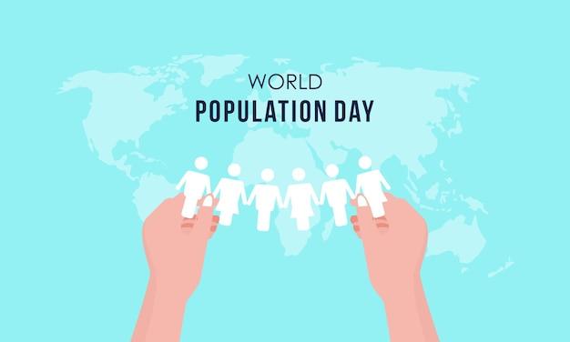 Flat world population day illustration Premium Vector