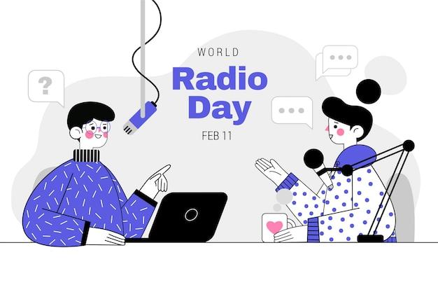 평면 세계 라디오의 날 그림