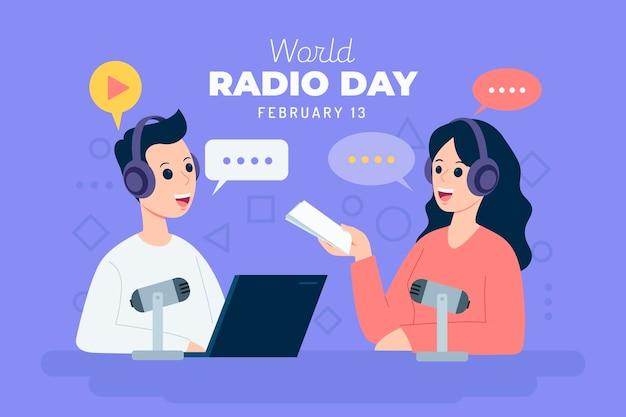 Flat world radio day
