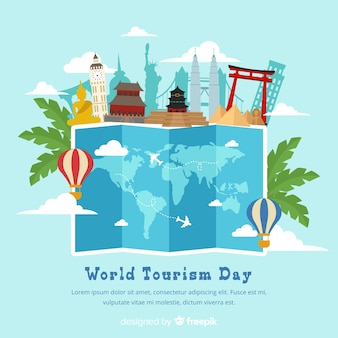 Flat world tourism day