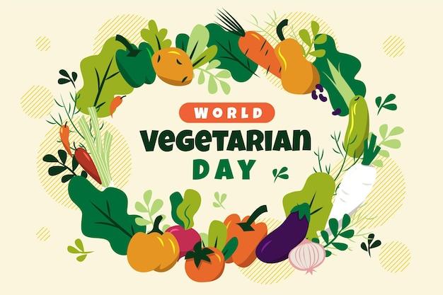 평면 세계 채식의 날 배경