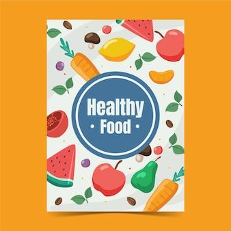 Плоский всемирный вегетарианский день вертикальный флаер шаблон