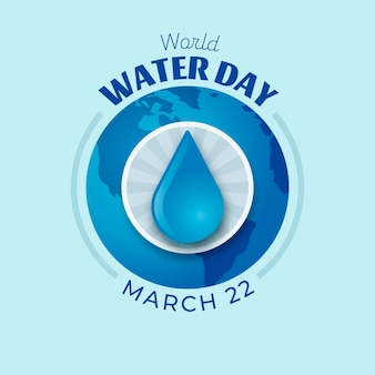 Evento della giornata mondiale dell'acqua piatta