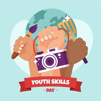 평면 세계 청소년 기술의 날 그림