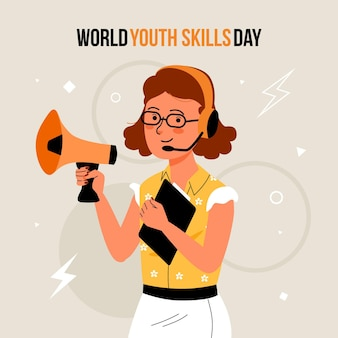 Плоский всемирный день навыков молодежи