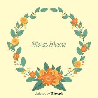 Flat wreath background
