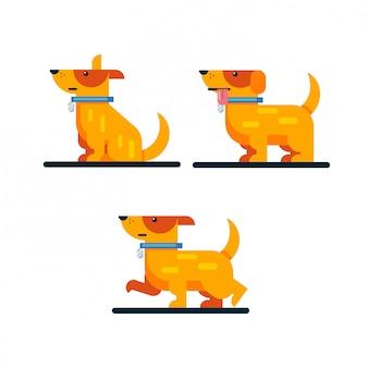 Плоская желтая собака