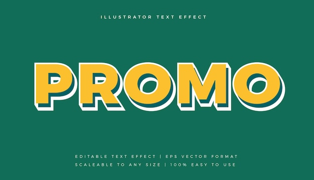 Flat yellow promotion text style font effect